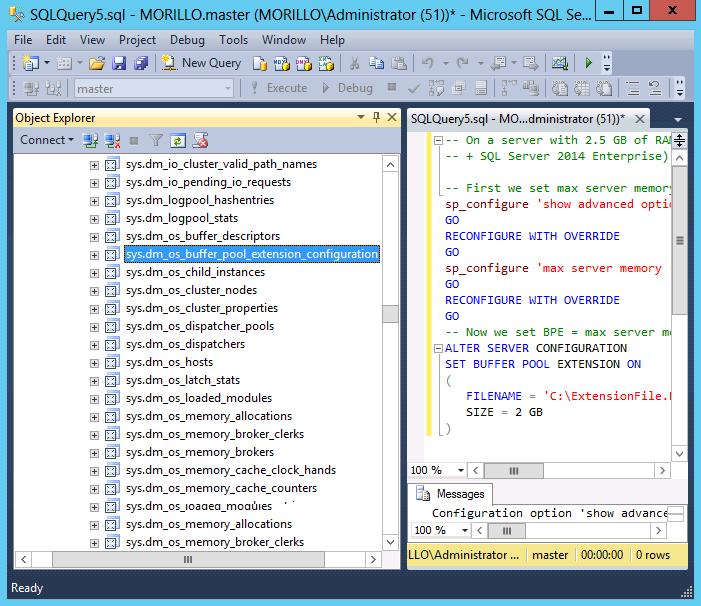 Sqlcoffee buffer pool extension - Alter table sql server example ...