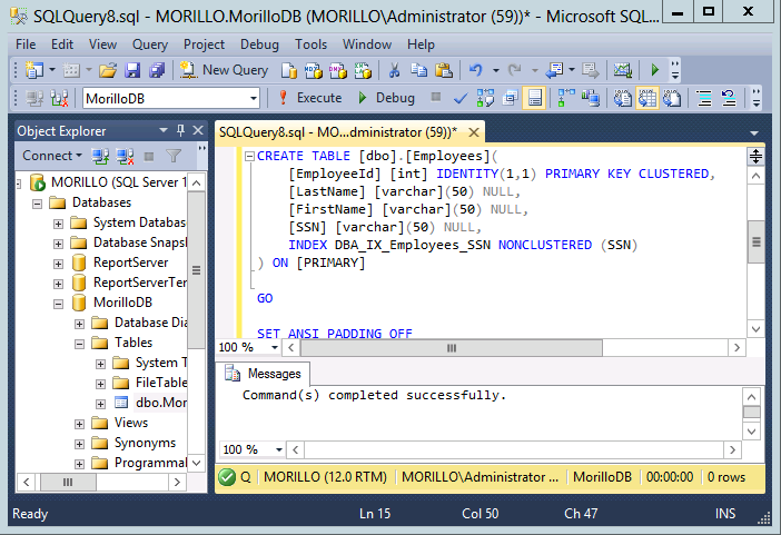 GO Reference. CREATE TABLE (SQL Server).
