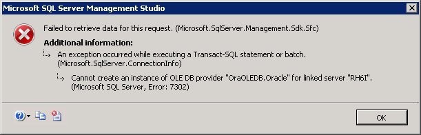 SQLCoffee - Cannot create a linked server to Oracle