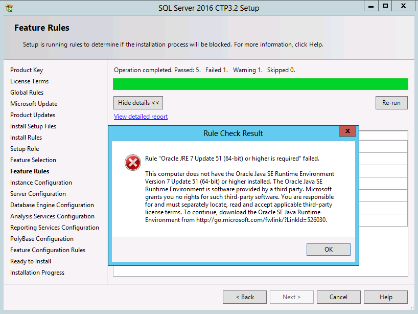 SQLCoffee - Oracle JRE 7 Update 51 (64-Bit) or higher is required